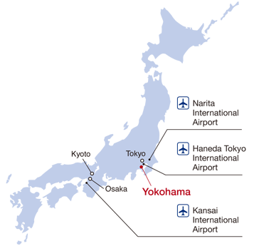 arriving at yokohama is easy thanks to the citys proximity to two international airports tokyo international airport haneda and narita international
